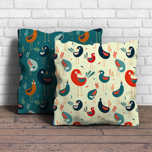 Colourful Pattern Design Birds